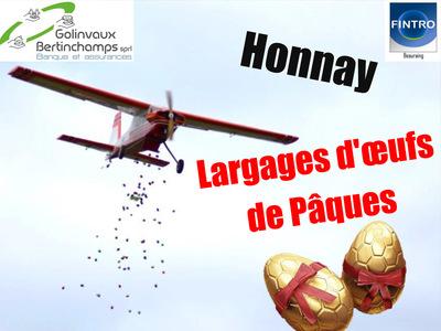 Largage d'œufs de Pâques 2020 chez les Blancs Volants d'Honnay