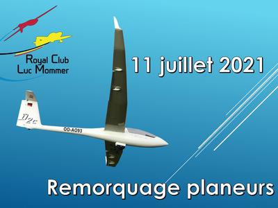 Journée remorquages planeurs au Royal Club Luc Mommer