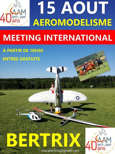 Meeting internationnal d'aéromodélisme à Bertrix